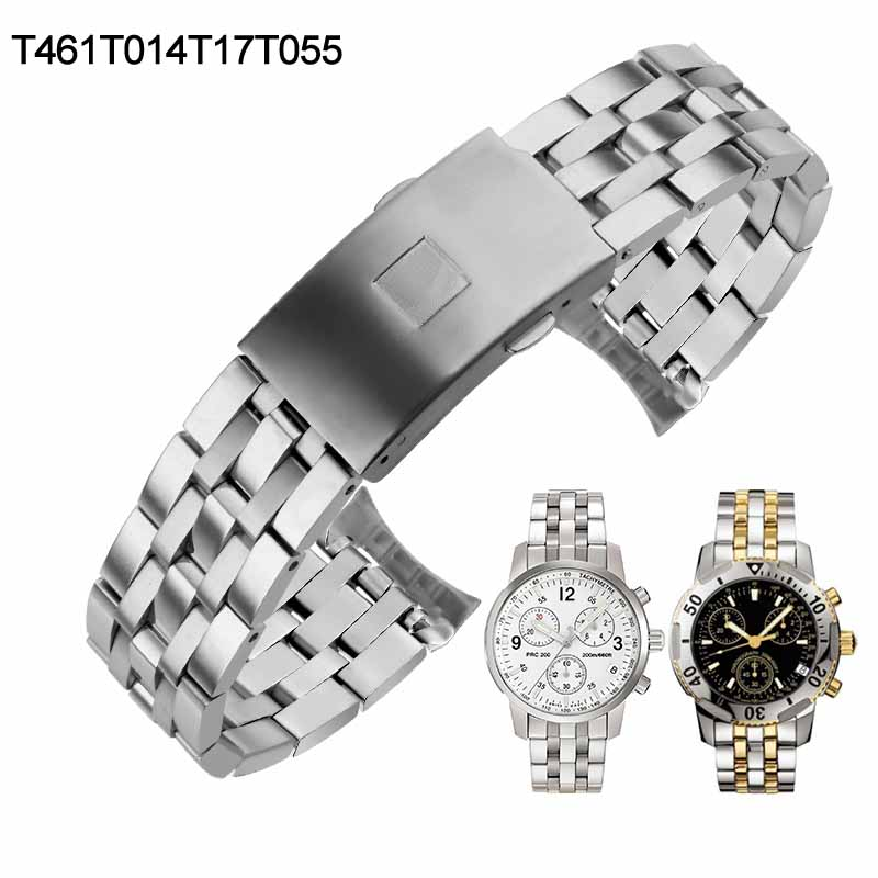19mm 20mm Watch Strap For Tissot PRC200 T17 T461 T014430 T014410 T019 T055 Watchband Watch Parts Stainless Steel Bracelets
