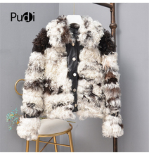 Pudi TX307701 women winter Leisure Real sheep fur coat jacket multiple color overcoat lady fashion genuine fur coat outwear все цены