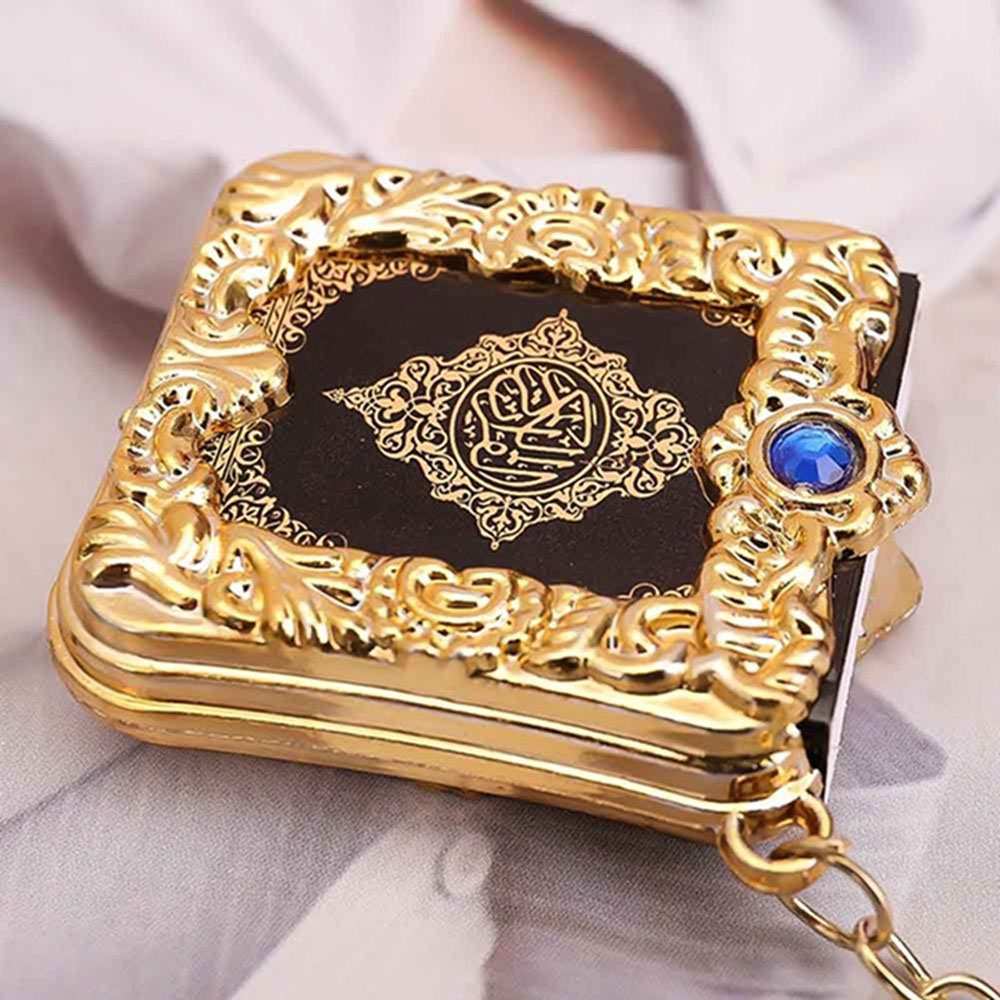 Image 5 - Muslim Islamic Mini Pendant Keychains Key Rings For Koran Ark  Quran Book Real Paper Can Read Small Religious Jewelry For Wom 1PcKey  Chains