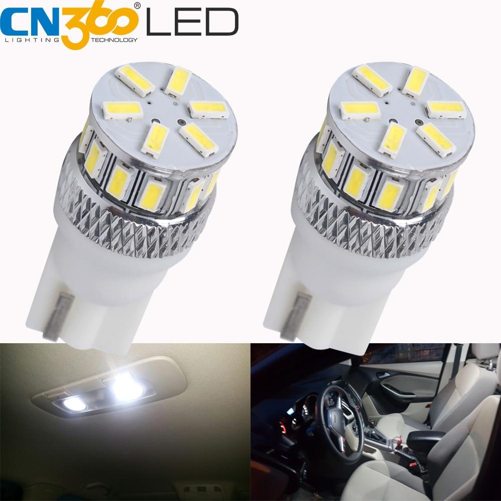 CN360 2PCS Yeni Stil SMD3014 T10 W5W 168 194 Avtomobil İşıqlı LED Avtomatik Qapı Güzgü Lisenziya Plitəsi Park Eni Oxu Qübbə Künc Lampası