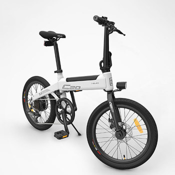 [Free Duty] HIMO C20 Foldable Electric Moped Bicycle 250W Motor 25km/h Hidden Inflator Pump Shimano Variable Speed Drive