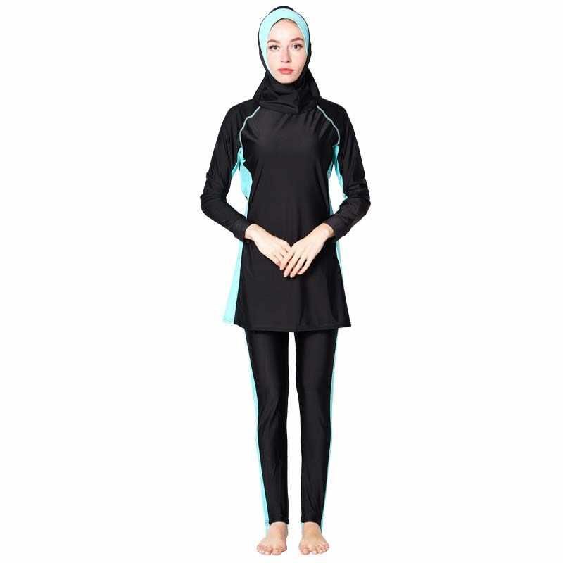 Shehang Hồi Giáo Đồ Bơi Hajib Hồi Giáo Đồ Bơi ull Bao Da Bảo Thủ Burkinis Nữ đi biển lướt hồi giáo