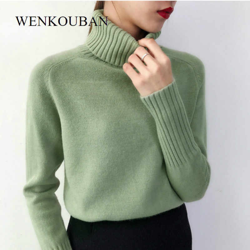 Women Sweaters 2020 Autumn Winter Cashmere Knitted Female