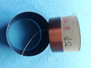 "Image 2 - 1 pcs ID: 50.8mm 2"" 4 ohm 2F horn voice coil woofer bass speaker black aluminous"