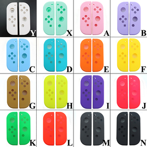 Image 2 - YuXi Protection Cases for Nintend Switch NS Joy Con Replacement Housing Shell Cover for NX JoyCons Controller Case Green Pink