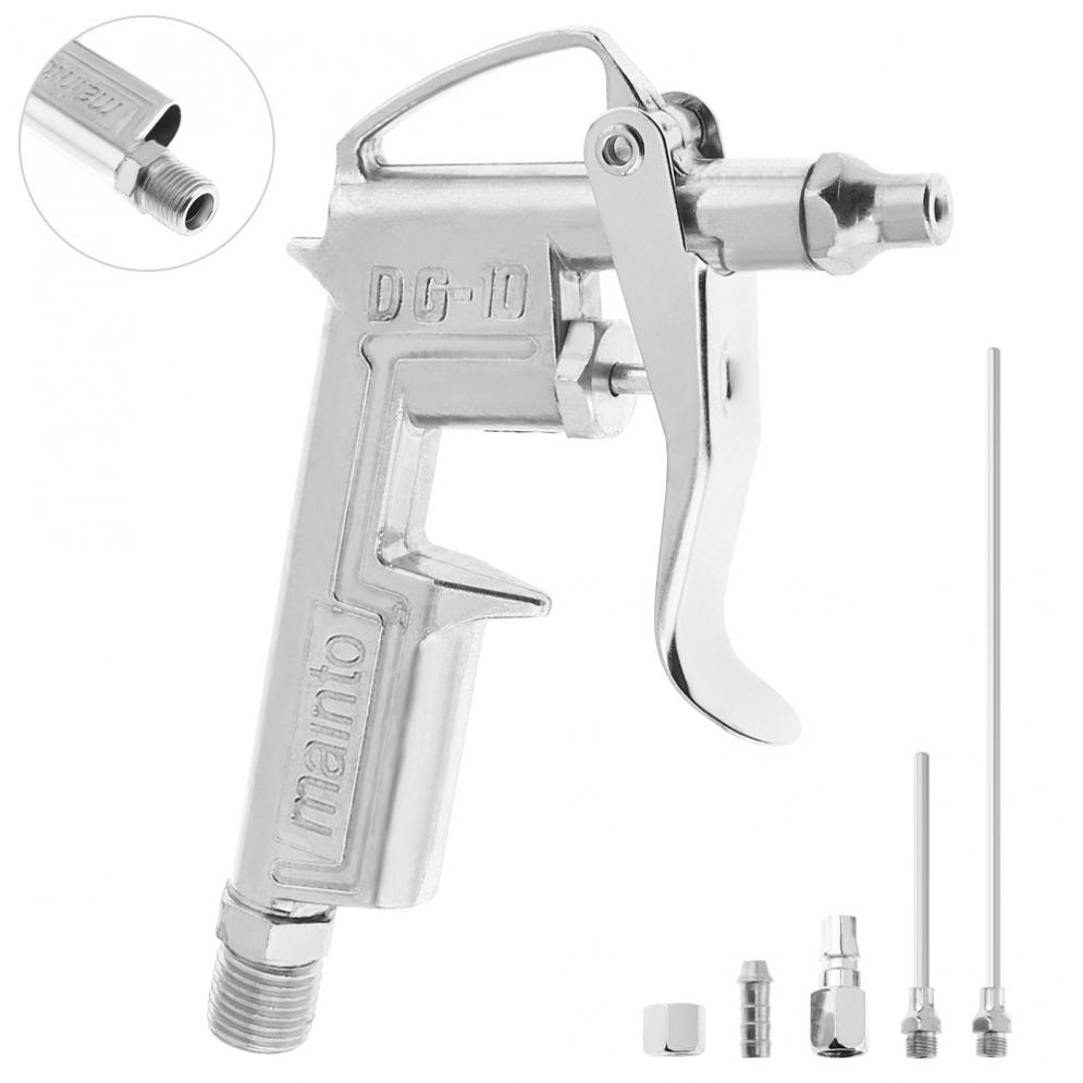 5pcs/set Mini Pneumatic Blowing Dust Gun Tool With 7.5mm Air Inlet Port And 3pcs Nozzle For Leather Oiling / Wall Painting