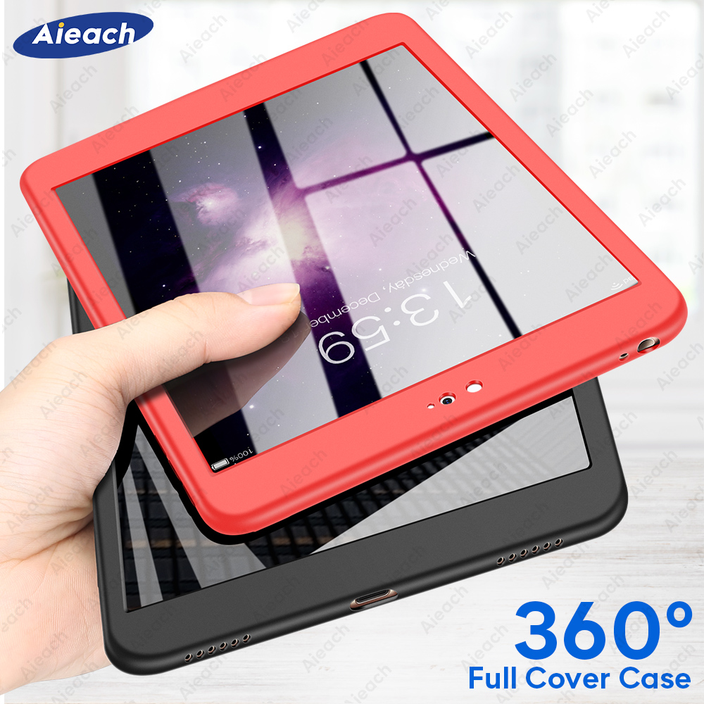 360 Full Cover Case For 8.0 Inch Xiaomi Mi Pad 4 Case With Tempered Glass Ultra Thin Soft Silicone Funda For Xiaomi Mipad 4 Case