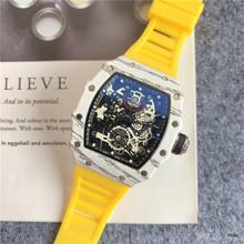 Pełna funkcja nowy Richard męskie zegarki Top marka luksusowe zegarki męskie Mille DZ mężczyzna zegar kwarcowy automatyczne zegarki na rękę tanie tanio ANGLANG 22cm Luxury ru QUARTZ NONE Nie wodoodporne Klamra CN (pochodzenie) STAINLESS STEEL 14mm Hardlex Kwarcowe Zegarki Na Rękę