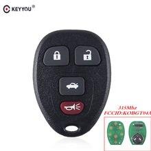 Clé clé de voiture 4 boutons   Pour Chevrolet Buick PONTIAC Allure Lacrosse Cobalt Malibu Grand Prix KOBGT04A clé de voiture à distance