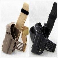 Tactical Drop Leg Holster Thigh Lock Pistol Holster for Glock 17 18 19 22