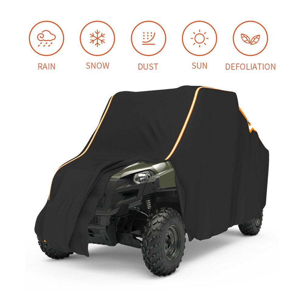 UTV Black Waterproof Utility Vehicle Storage Cover Side-by-Side SxS For Polaris Ranger 570 900 1000 RZR 900 Models 2014-2017