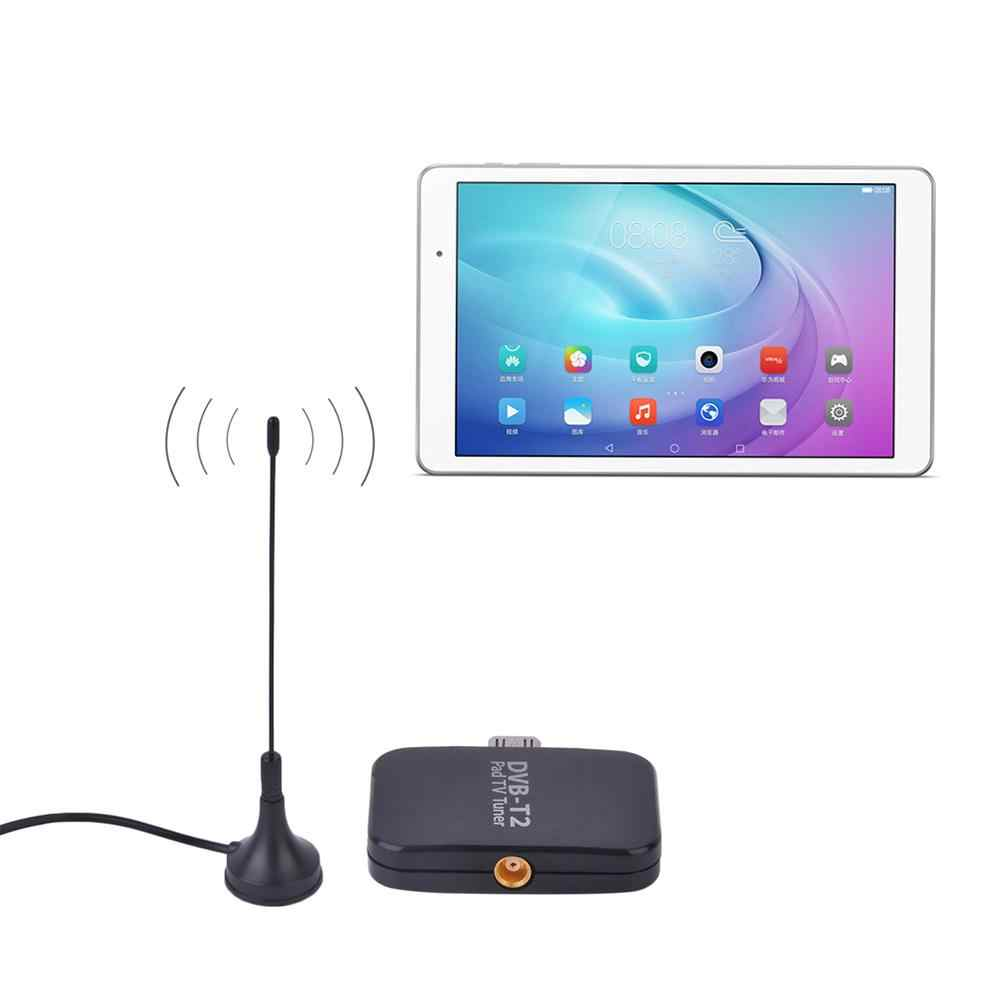 DVB-T2 Pad USB TV Tuner dvb-t2 DVB-T Dongle TV alıcısı HD dijital TV izle canlı TV çubuk mini PC Android Pad için tablet telefon PC
