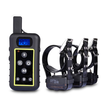 Trainertec waterproof IP67 2400M Meters Rechargeable Hunting Dog Training Collar DT2200 Led Light dog find tanie i dobre opinie Obroże szkoleniowe Z tworzywa sztucznego