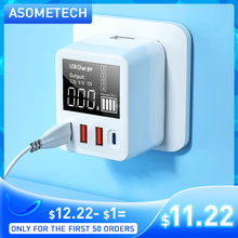 30 40W Quick Charge QC 3 0 USB Ladegerät Wand Reise Handy Adapter Schnell Ladegerät USB Ladegerät Für iPhone Xiaomi Huawei Samsung cheap ASOMETECH ROHS USB PD Qualcomm Quick Charge CN (Herkunft) Typ C 3 EINE Ports Spielraum A C Quelle USB Mobile Phone Charger