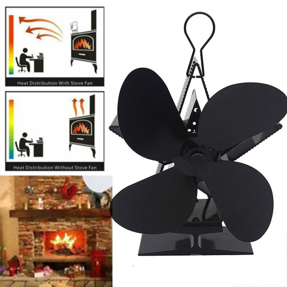 High Temperature Resistant Heat Powered Stove Fan Hanging Fire Place For Wood Coal Blower Electric Fireplace With Safety Device