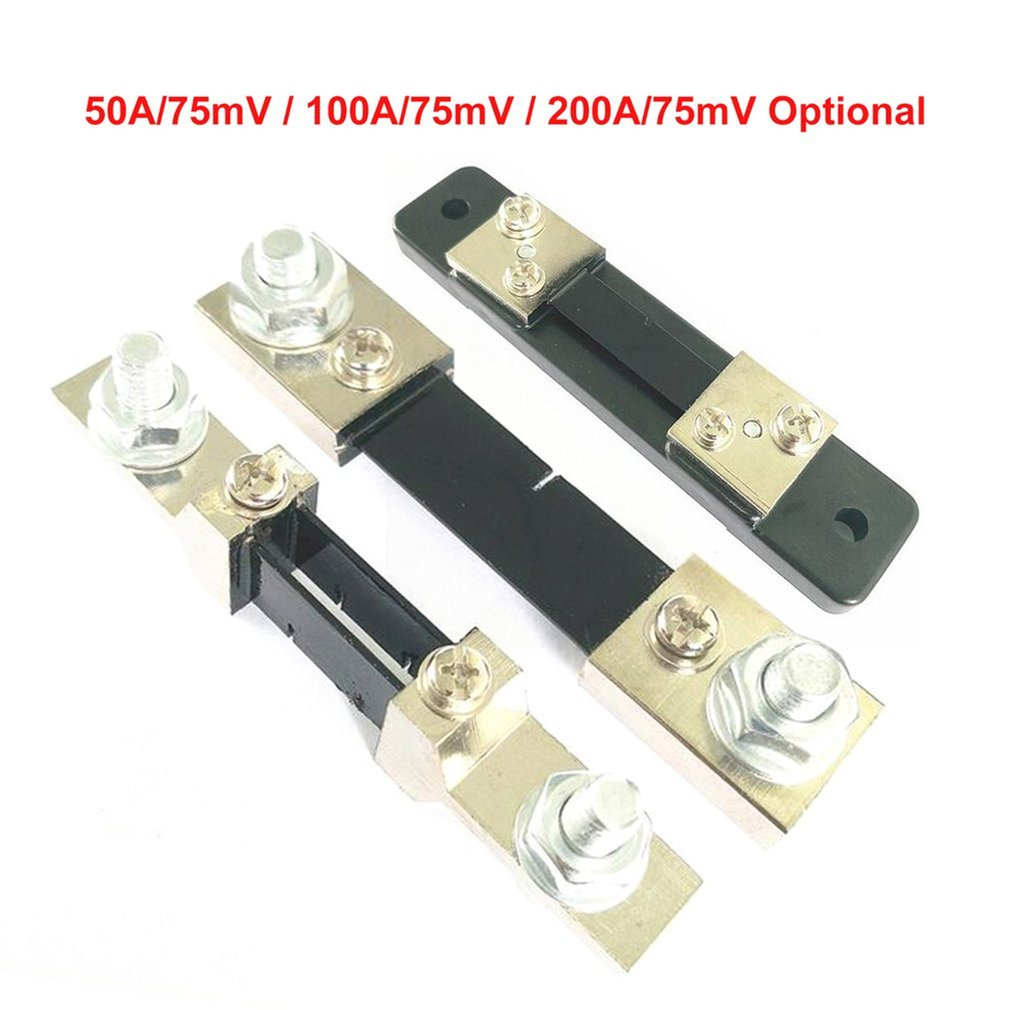 FL-2 50A/100A/200A 75мв постоянного тока шунтирующая панель резистора для цифрового амперметра КЛАСС 0,5 резистор с шунтом тока