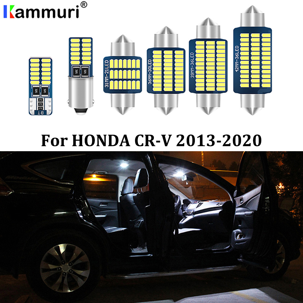 KAMMURI 12Pcs Error Free White Interior <font><b>LED</b></font> Light Package Kit For 2013 - 2016 2017 <font><b>2018</b></font> 2019 2020 <font><b>Honda</b></font> <font><b>CRV</b></font> CR-V <font><b>LED</b></font> Interior image