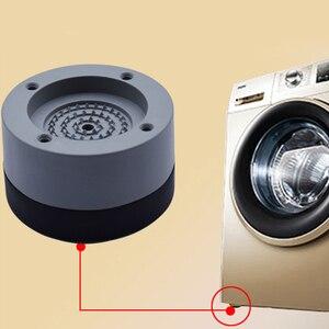 Image 2 - Coussinet universel pour les pieds en caoutchouc meubles fixes antidérapants Machine à laver, accessoires étanches, tapis de sol Anti Vibration, pour la maison