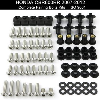 For Honda CBR600RR CBR 600RR 2007 2008 2009 2010 2011 2012 Motorcycle Full Fairing Bolts Kit Screws Bodywork Fairing Clips motorcycle fairing kit for honda cbr600rr f5 2013 2017 injection abs plastic fairings cbr 600rr 13 17 gloss wihte bodyworks
