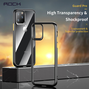 Image 1 - ROCK For 2019 iphone 11 iphone 11 pro max case Crystal Clear Phone protection soft + hard hybrid case for iphone 11 pro cover
