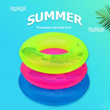 Przenośny basen pływak nadmuchiwany ponton nadmuchiwany fluorescencyjny basen letni pływak nadmuchiwany ing Row tanie i dobre opinie VKTECH CN (pochodzenie) Dla dziecka Swim Ring Float Swim Ring Tube 60 (for 2-4 years old) 80 (for teenagers) 90 (for adults) (Optional)
