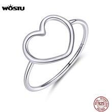 WOSTU 925 argent Sterling longue queue souris anneaux ouverts réglable parti femmes anneau doigt mode bijoux 2020 nouveauté CQR632