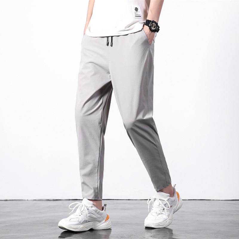 Men Capri Pants 2019 Summer Loose And Plus-sized Casual Pants Men'S Wear Fashion Athletic Pants Men's 9 Pants