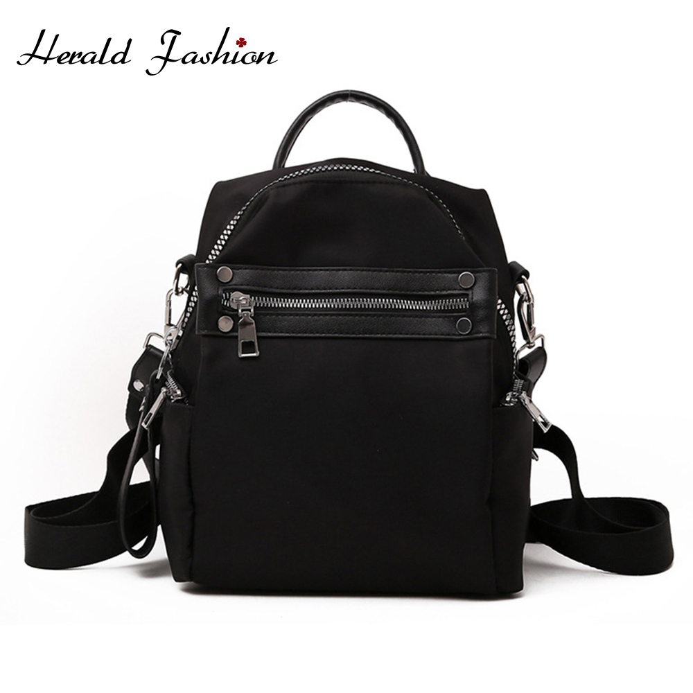 Herald Fashion  Women Backpacks Vintage South Korea Brand Design Bag Travel Casual Female Nylon High Quality Small Rucksack