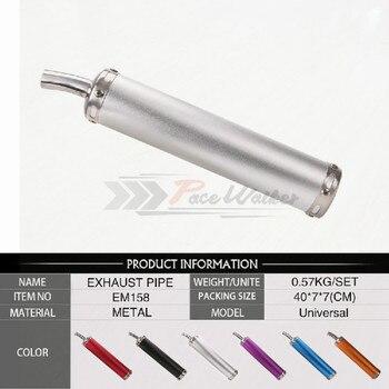 Silenciador de tubo de Escape Universal para motocicleta, 20mm de entrada, 280mm, para ATV, Street Scooter, Motocross, 50cc, 125CC