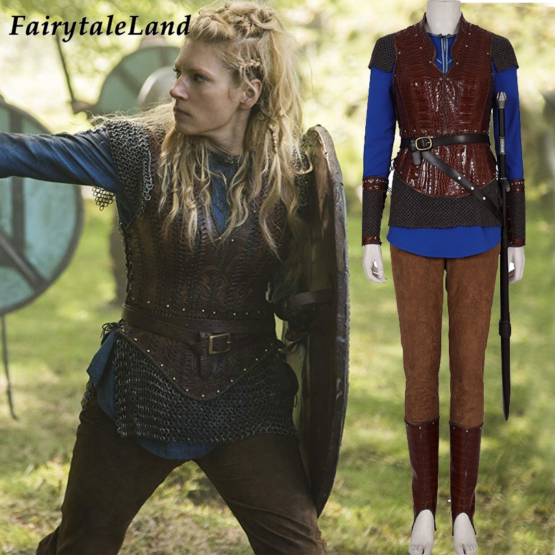 TV Vikings Lagertha Cosplay Costume Carnival Halloween Costumes Katheryn Winnick Outfit Soldier Armor Suit Custom Made