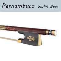 4/4 Top Level Pernambuco Violin Bow Perfect Balance Real Mongolia Horse Hair Violin Parts Accessories