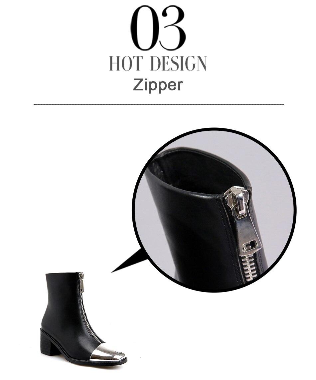 flat heels female boots