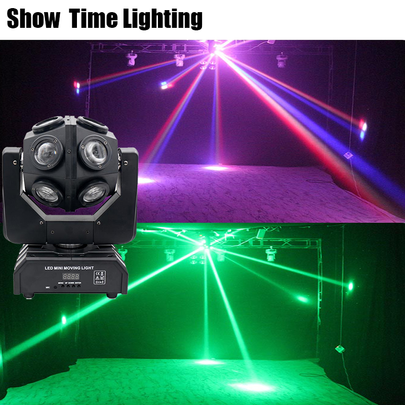 Show Time Unlimited Rotate Dj 12Pcs 10W RGBW 4 IN 1 Led Moving Head Light Good Effect Use For Party KTV Night Club Bar