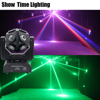 Show Time Unlimited Rotate Dj 12Pcs 10W RGBW 4 IN 1 Led Moving Head Light Good Effect Use For Party KTV Night Club Bar 2pcs lot 4 in 1 led bar 7 10w moving head light rgbw 7 leds disco wash nightclub rainbow effect projector for wedding show