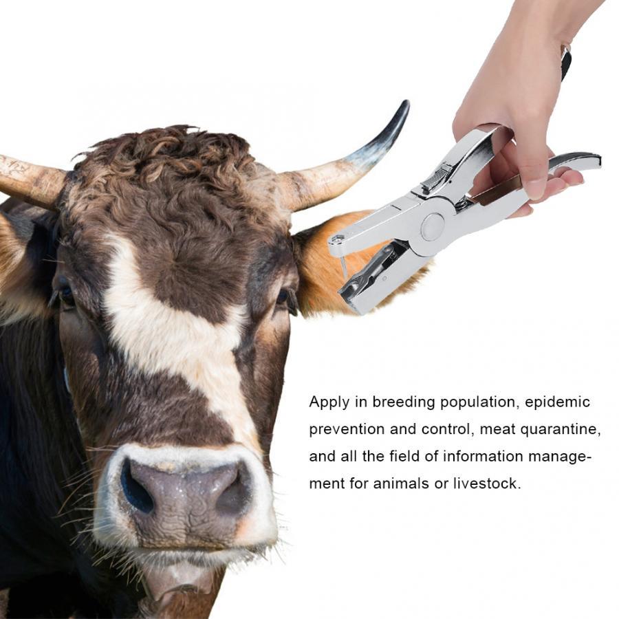 Puncher Veterinary Pig-Cow-Sheep-Livestock Plier Ear-Tag Zinc-Alloy