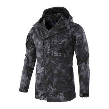 ESDY Softshell Tactical Jacket Hunting Clothes Outdoor Sport Sets Men Camouflage Military Coats For Camping Hiking Hooded Jacket