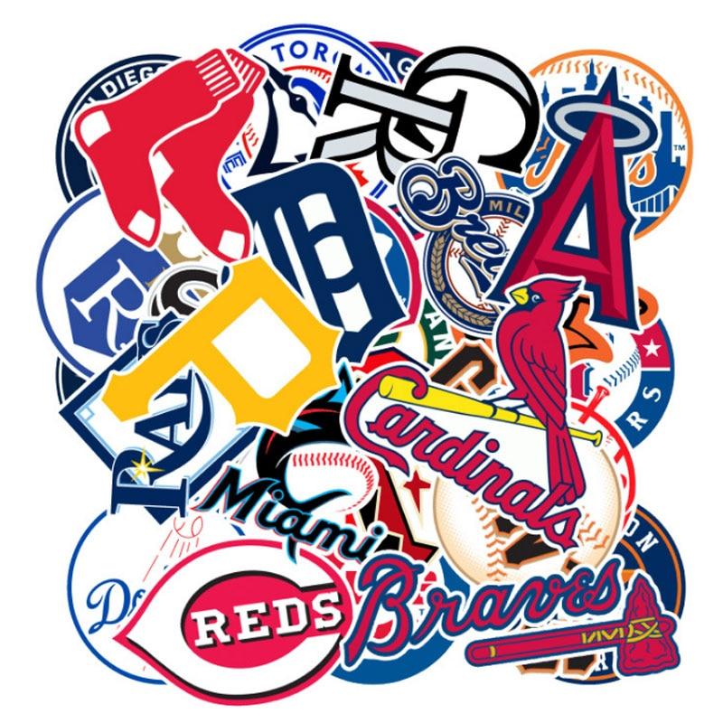 30 Pieces / Piece Baseball Team Logo Classic Fashion  Sticker Motorcycle And Suitcase   Toy Sticker Sticker Skateboard Sticker