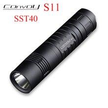 Convoy S11 with Luminus SST40 2300lm Flashlight Lantern Led Camp Torch Lantern 18650 26650 Flash Light Black Tactical Flashlight бомбер dc convoy black