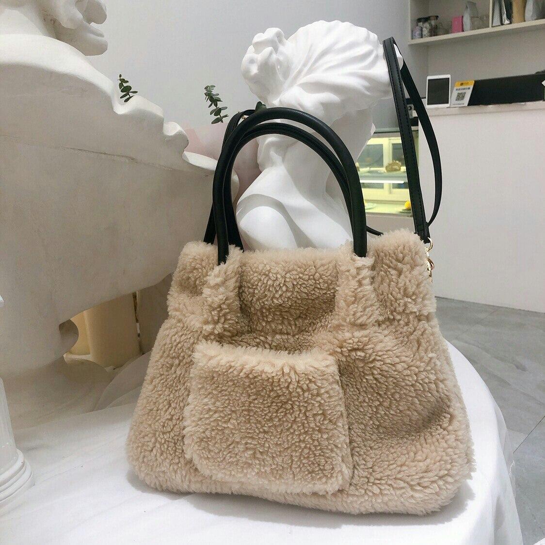 Inverno Nova Menina Plush Crossbody Bag Mini