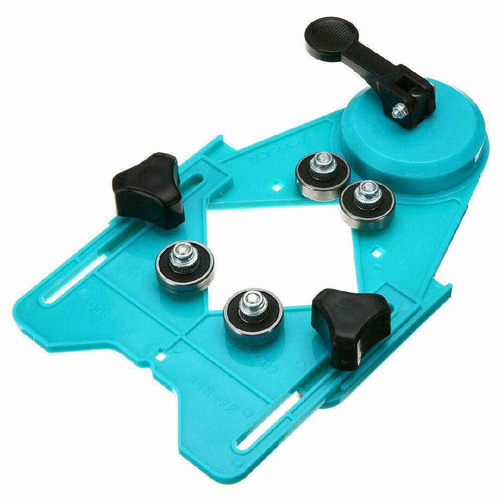 Adjustable Ceramic Tile Glass Hole Sawing Machine Guide Opening Positioner 4mm-83mm