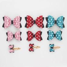 Set Handmade Mickey Minnie Cute Glitter Bows Side Hair Clip Shiny Hair Accessories Girls Kids Childr Hairpins Headwear Barrettes
