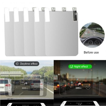 цены Car HUD Reflective Film Head Up Display System Film OBD Fuel Consumption Overspeed Display Auto Accessories