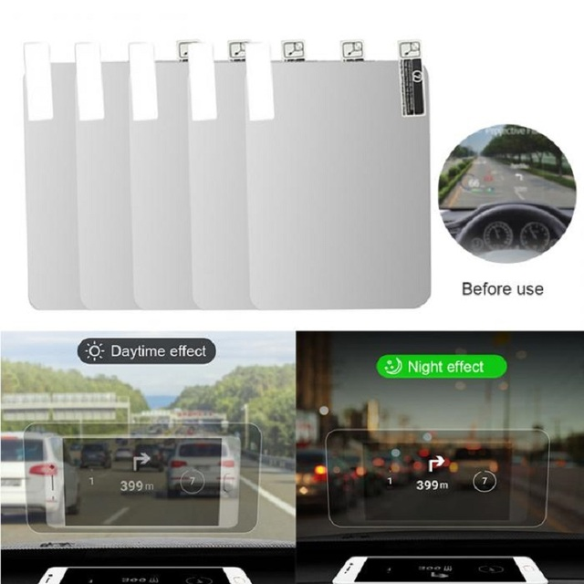 Car HUD Reflective Film Head Up Display System Film OBD Fuel Consumption Overspeed Display Auto Accessories