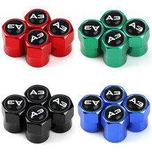 4 pces excelentes tampas da haste da válvula do pneu da roda de automóvel para audi a3 a1 a4 a5 a6 a7 a8 q3 q5 q7 s8 tt acessórios do carro-estilo