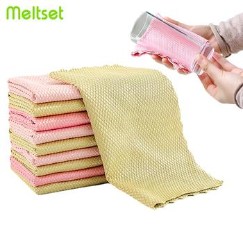 5 sztuk partia ściereczka z mikrofibry bez śladu szkła ręcznik do czyszczenia chłonne tkaniny do naczynia kuchenne szmata #8230 tanie i dobre opinie Meltset CN (pochodzenie) Ekologiczne Na stanie NAKŁADKA DO MYCIA PODŁOGI HIGIENICZNE Mikrofibra 1CV635 kitchen towel microfiber cloth
