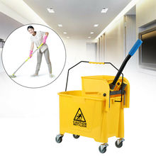 Honhill Cleaning Trolley 20L With Press Cleaning Trolley Mop Bucket Wiper For Home Shop Garden Hotel Cleaning