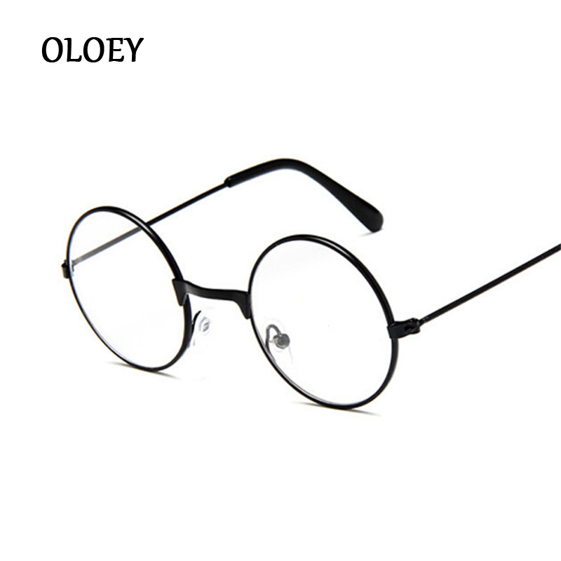 Vintage Round Glasses For Kids Metal Frame With Clear Lens Myopia Optical Transparent Glasses For Children Boys Girls Eyewear
