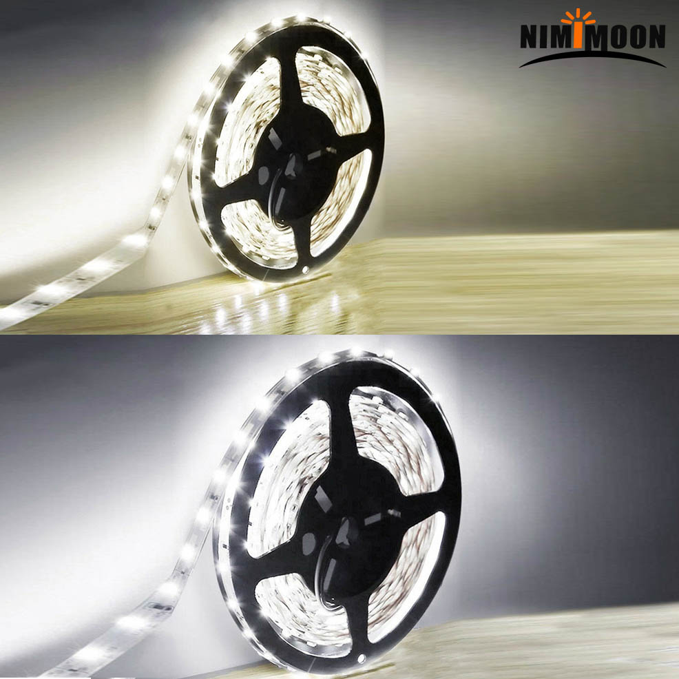 5M 300 LED Light Strip 5V/12V White/Warm WhiteSticky Tape 2835 Waterproof Cabinet Kitchen Lighting