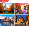 HUACAN Painting By Numbers City Landscape Drawing On Canvas HandPainted DIY Picture By Number Night Scenery Kits Home Decor