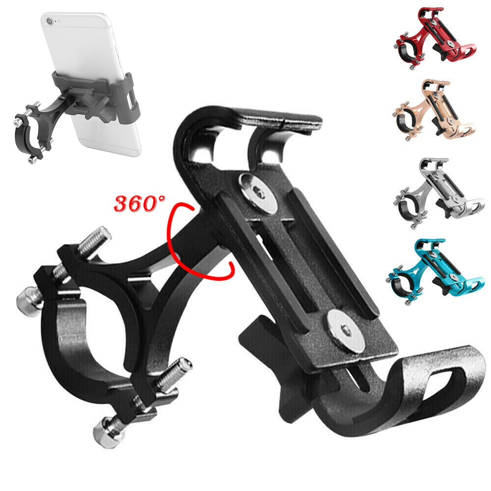 Bicycle Phone Mount Holder Rack Aluminum Alloy For Universal Mountain Bike Motorcycle NR-shipping